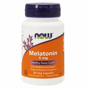 NOW Melatonin 5 мг 60 капс